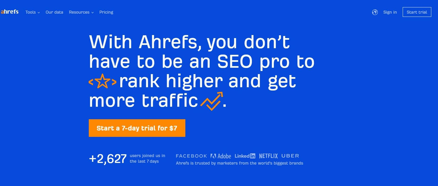 Ahrefs the great B2B SEO tool to effectively use b2b SEO and b2b content marketing for lead generation.