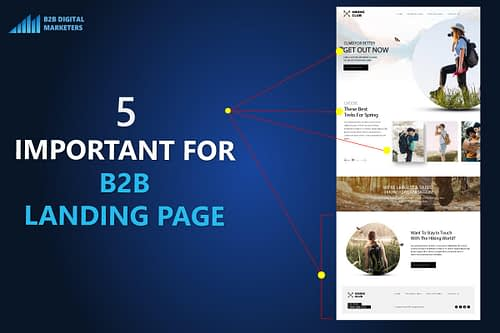 5 Important Tips for B2B Landing Page